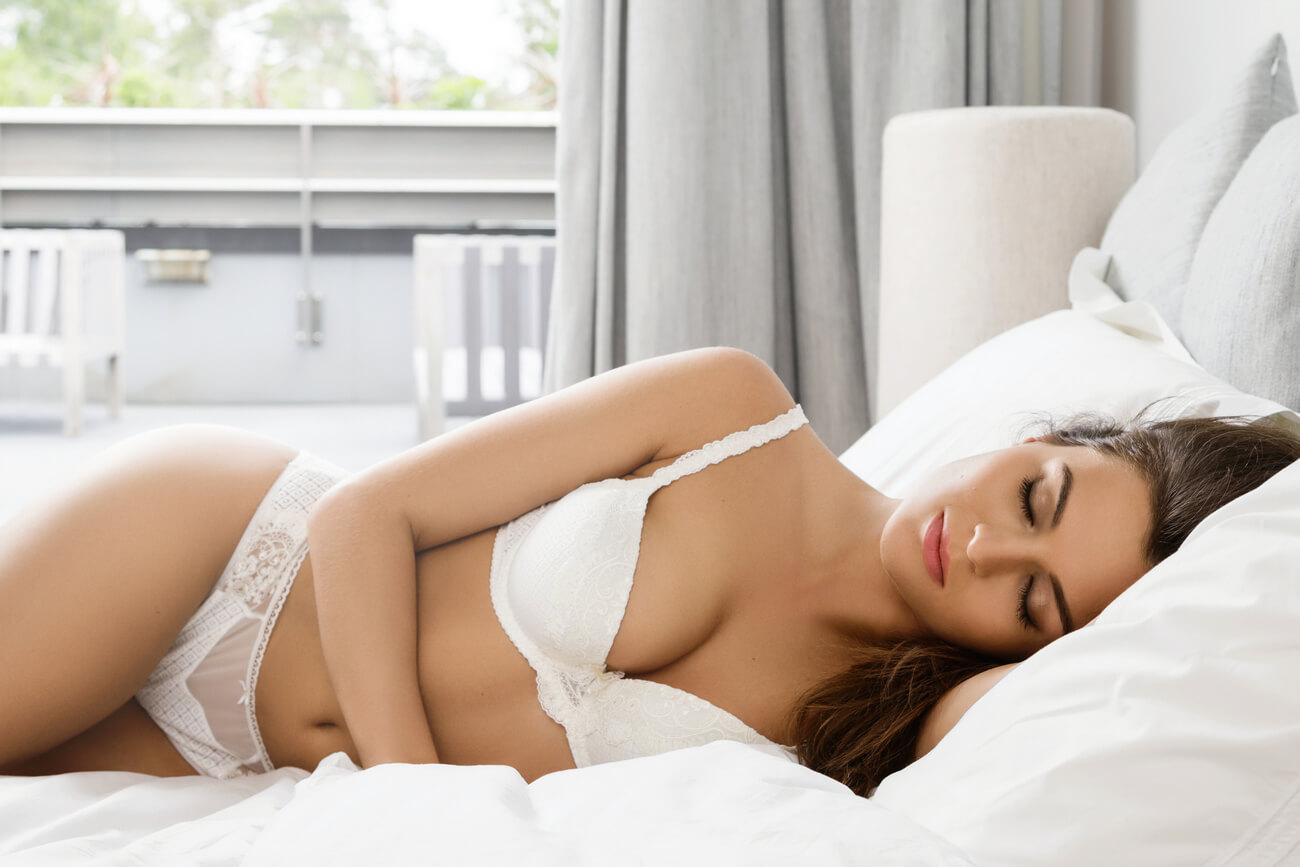 Morning Woman In Bed