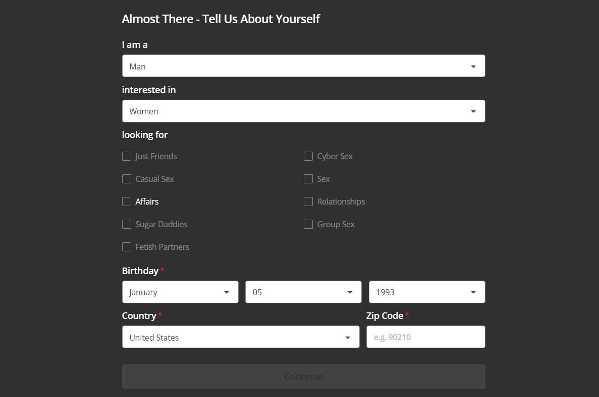 snapsext registration form