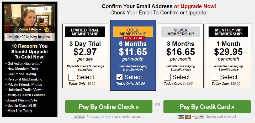 Milfaholic.com prices