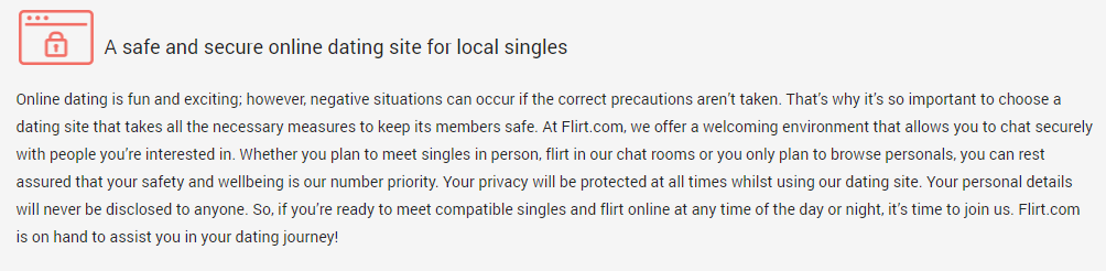 Flirt.com security