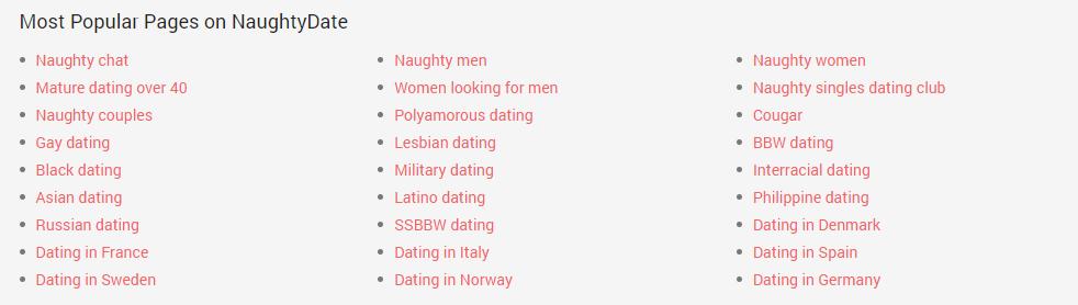 Naughtydate.com category