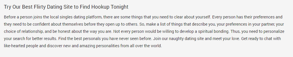 Onenightfriend.com advantages