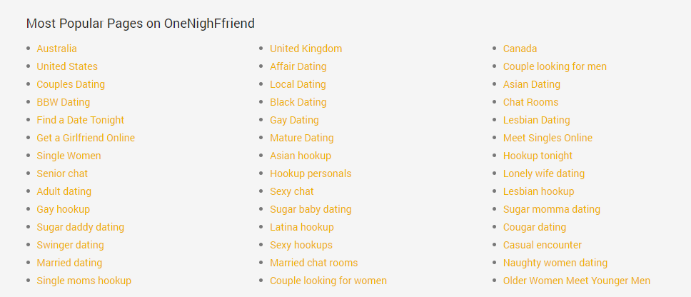Onenightfriend.com category