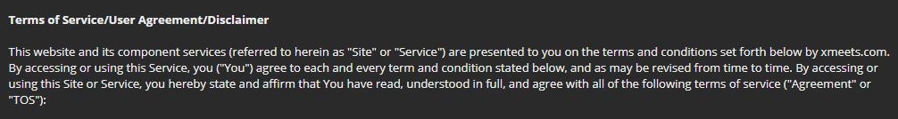 Xmeets.com policy