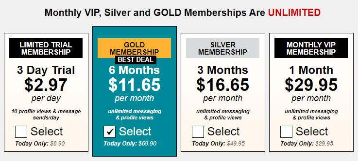 Xmeets.com prices