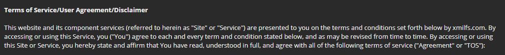 Xmilfs.com policy