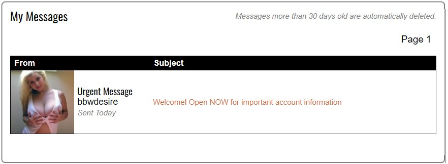 BBWDesire.com messages