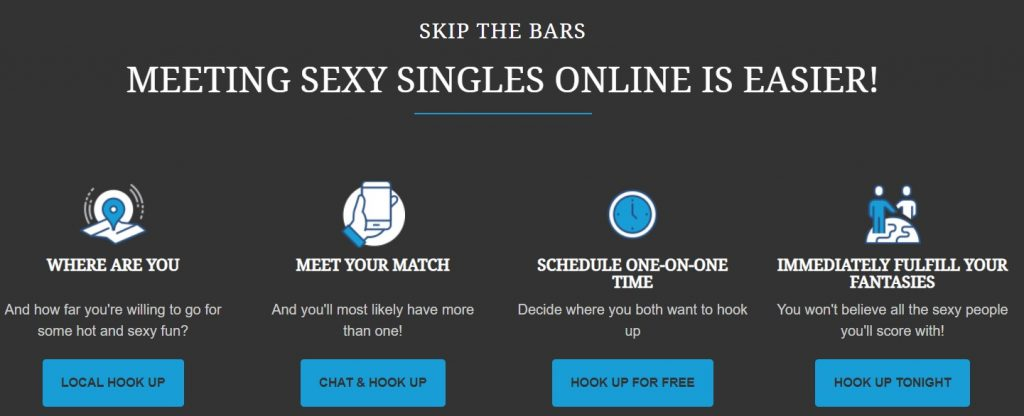InstantHookups.com menu
