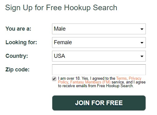 Frehookupsearch signup menu
