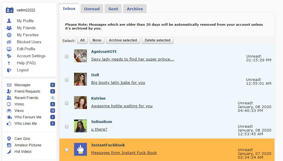instantfuckbook communicate